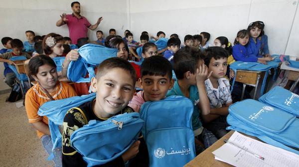 طلاب مدرسة سورية في الداخل